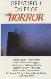Cover of: Great Irish Tales of Horror