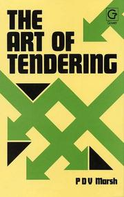 Cover of: The art of tendering