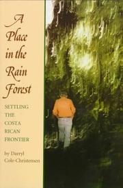 Cover of: A Place in the rain forest