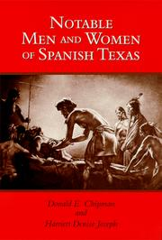 Cover of: Notable men and women of Spanish Texas