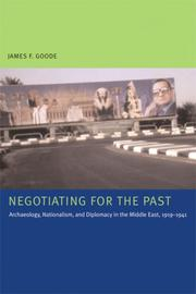 Cover of: Negotiating for the Past