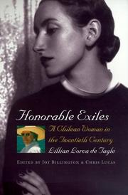 Cover of: Honorable exiles