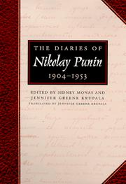 The diaries of Nikolay Punin by N. N. Punin