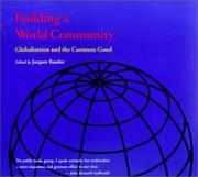 Cover of: Building a World Community