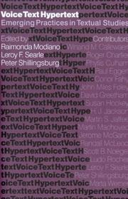 Cover of: Voice, text, hypertext