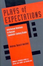 Cover of: Plays of Expectations | Andrew Baruch Wachtel