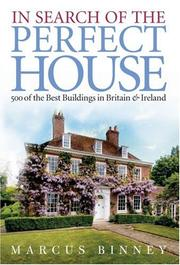 Cover of: In Search of the Perfect House