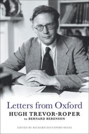 Cover of: Letters from Oxford