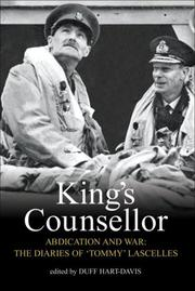 Cover of: King's Counsellor Abdication and War