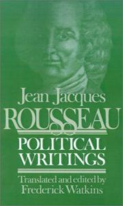 Cover of: Political writings