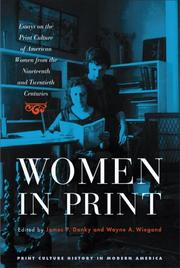 Cover of: Women in Print |