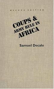 Cover of: Coups & army rule in Africa | Samuel Decalo