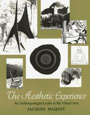 Cover of: The Aesthetic Experience | Jacques Maquet