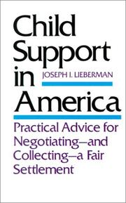 Cover of: Child support in America