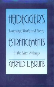 Cover of: Heidegger's estrangements
