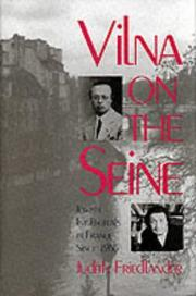 Cover of: Vilna on the Seine