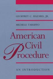 Cover of: American civil procedure | Geoffrey C. Hazard