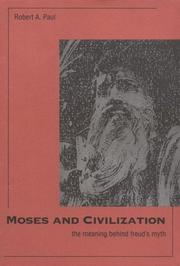 Cover of: Moses and civilization