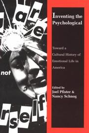 Cover of: Inventing the psychological |