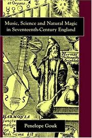 Cover of: Music, science, and natural magic in seventeenth-century England