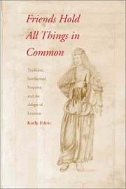 Cover of: Friends Hold All Things in Common
