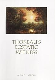 Cover of: Thoreau's ecstatic witness