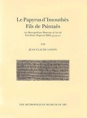 Cover of: Le Papyrus d