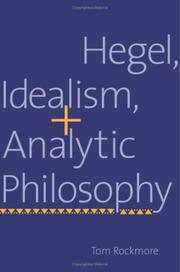 Cover of: Hegel, Idealism, and Analytic Philosophy