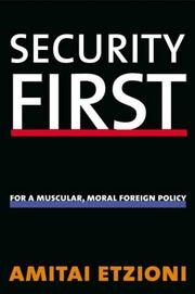 Cover of: Security first