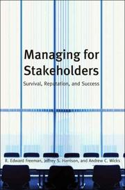 Cover of: Managing for Stakeholders | R. Edward Freeman