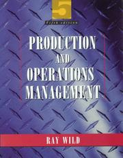 Production and operations management by Ray Wild