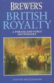 Cover of: Brewer's British royalty
