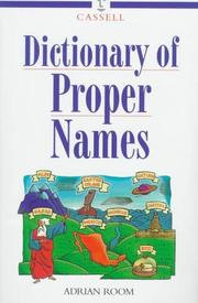 Cover of: Cassell dictionary of proper names