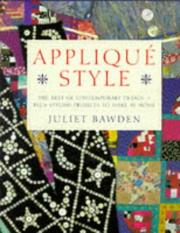 Cover of: Appliqué style