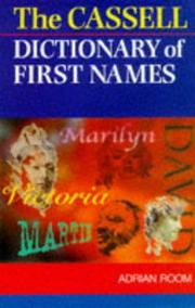 Cover of: Cassell of First Names Dictionary