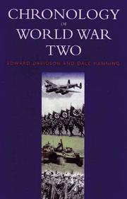 Cover of: Chronology of World War Two