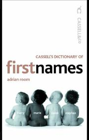 Cover of: Cassell's Dictionary of First Names