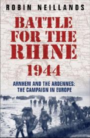 Cover of: Battle for the Rhine 1944