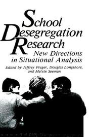 Cover of: School desegregation research |