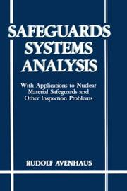 Cover of: Safeguards systems analysis