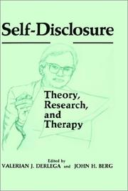 Cover of: Self-disclosure |