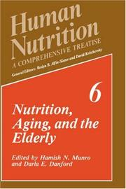 Cover of: Nutrition, aging, and the elderly |