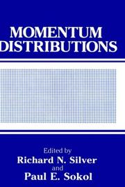 Cover of: Momentum distributions |