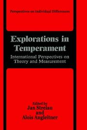 Cover of: Explorations in temperament |