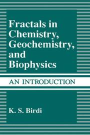 Cover of: Fractals in chemistry, geochemistry, and biophysics: an introduction