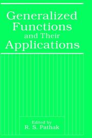 Cover of: Generalized functions and their applications |