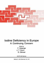 Cover of: Iodine deficiency in Europe |
