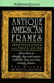 Cover of: Antique American frames