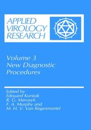 Cover of: New diagnostic procedures