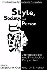 Cover of: Style, society, and person